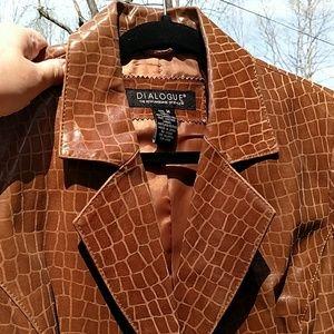 Dialougue leather jacket